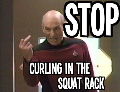 picard curl in squat rack
